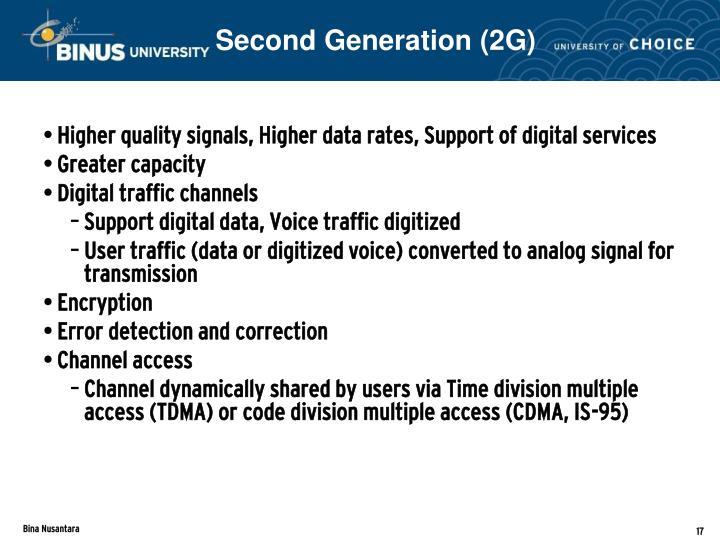 Second Generation (2G)
