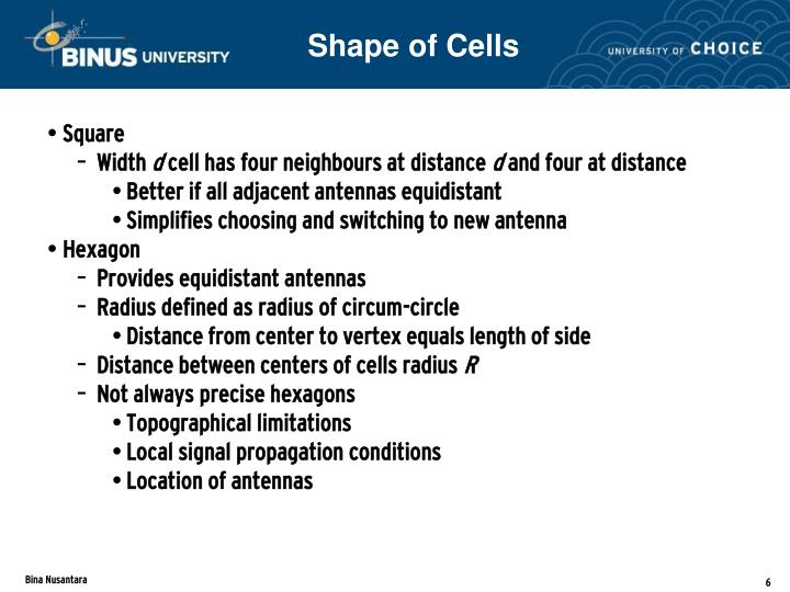Shape of Cells