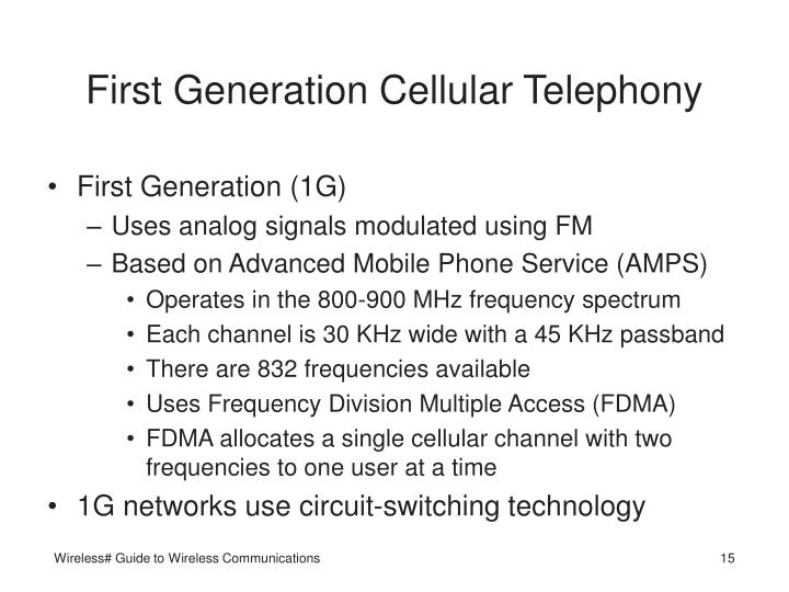 First Generation Cellular Telephony