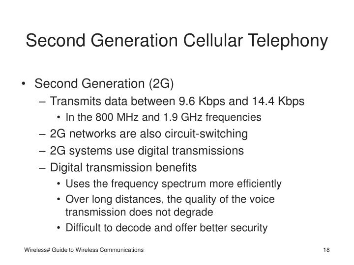 Second Generation Cellular Telephony