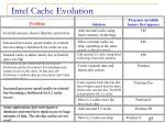 intel cache evolution
