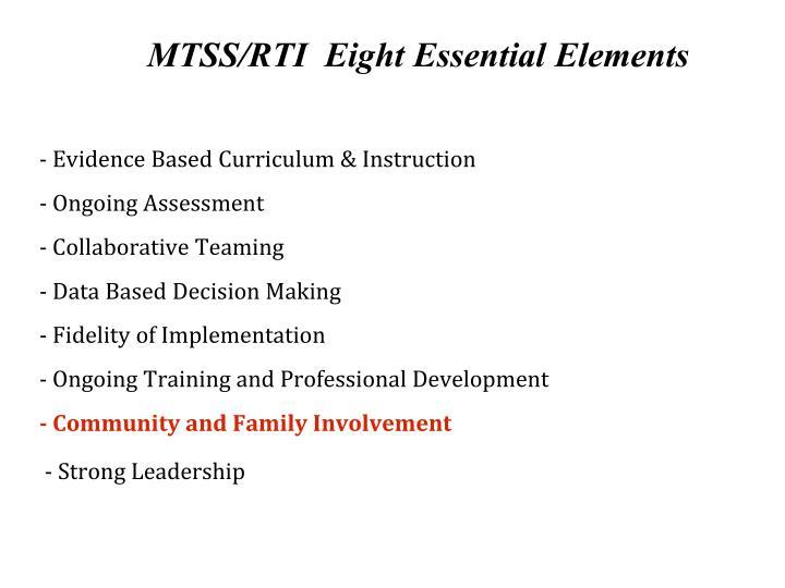 Mtss rti eight essential elements