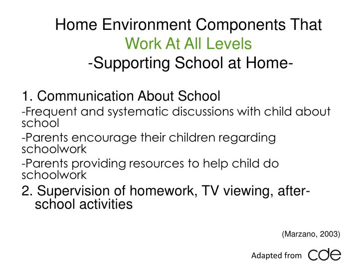 Home Environment Components That