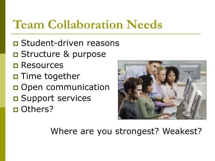 Team Collaboration Needs