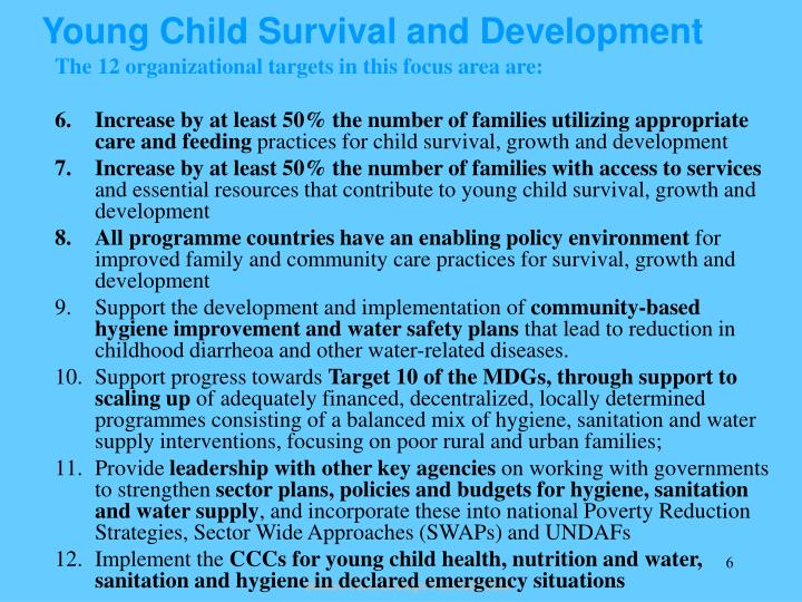Young Child Survival and Development