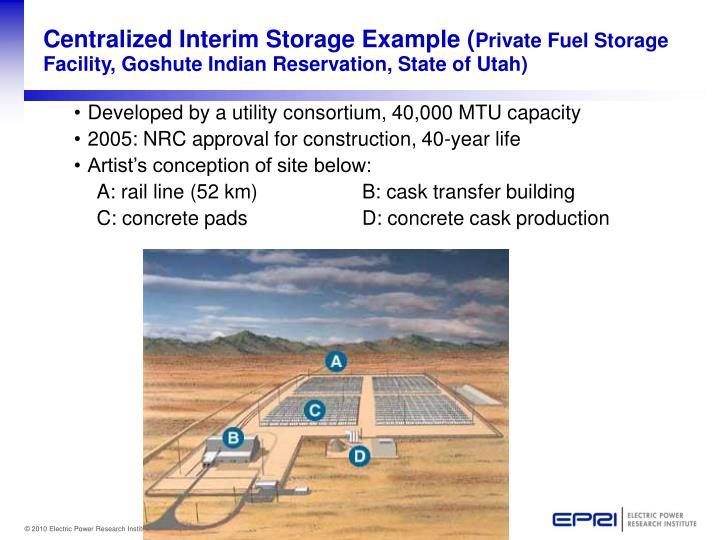 Centralized Interim Storage Example (