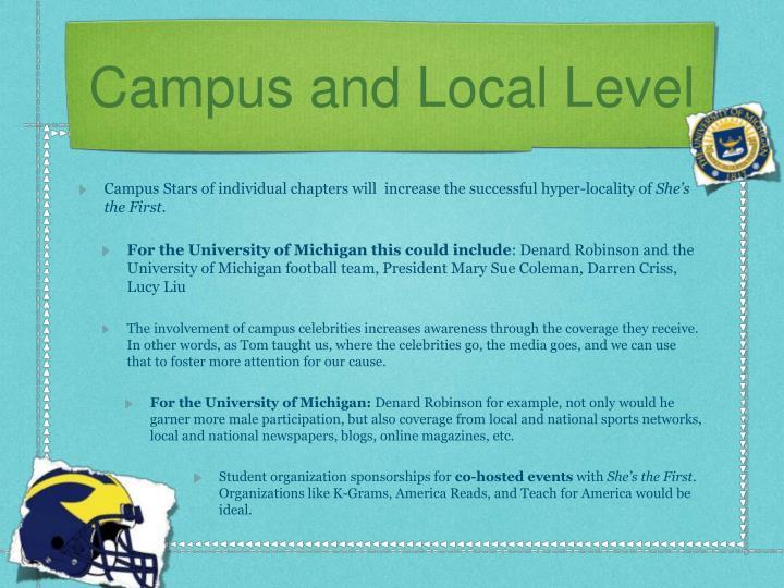 Campus and Local Level