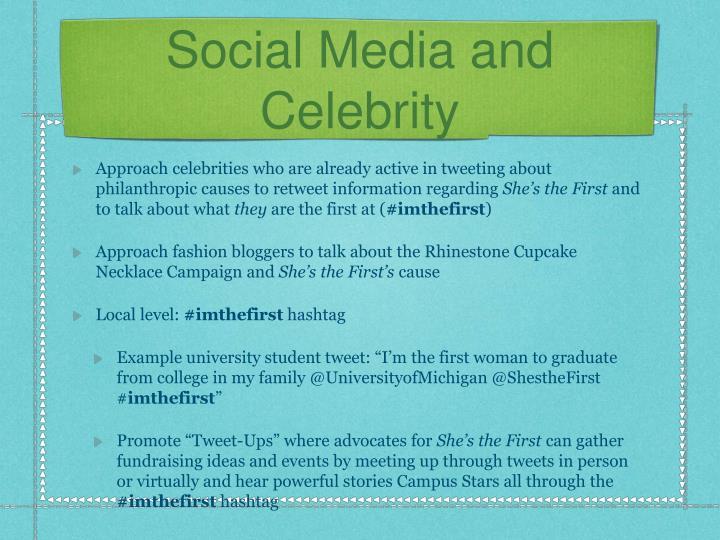 Social Media and Celebrity