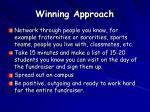 winning approach