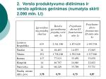 2 verslo produktyvumo didinimas ir verslo aplinkos gerinimas numatyta skirti 2 090 mln lt1