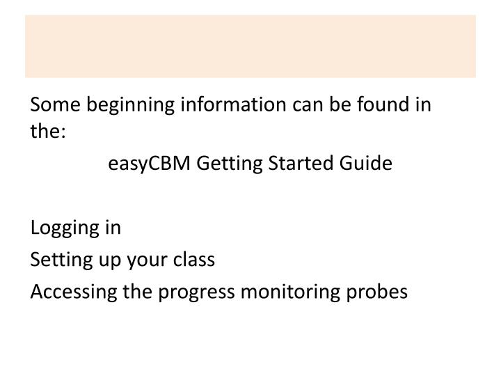 Some beginning information can be found in the: