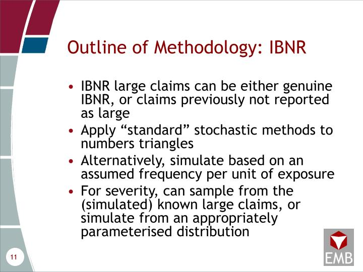 Outline of Methodology: IBNR