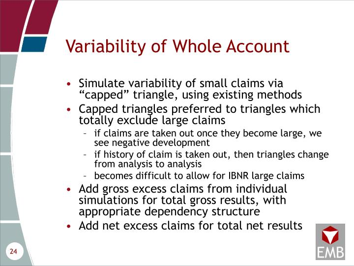 Variability of Whole Account
