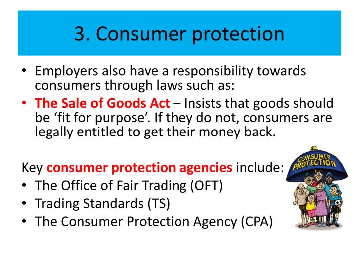 3. Consumer protection