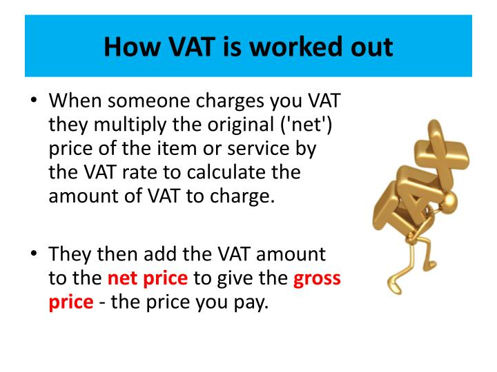 How VAT is worked out