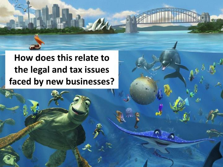 How does this relate to the legal and tax issues faced by new businesses?