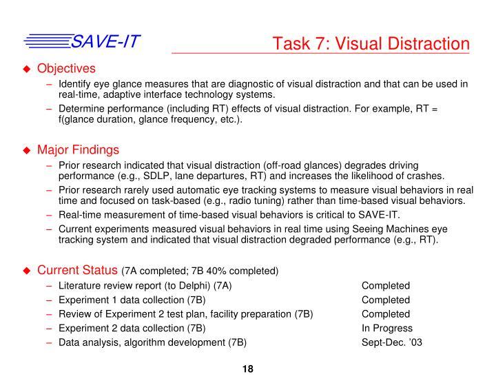 Task 7: Visual Distraction