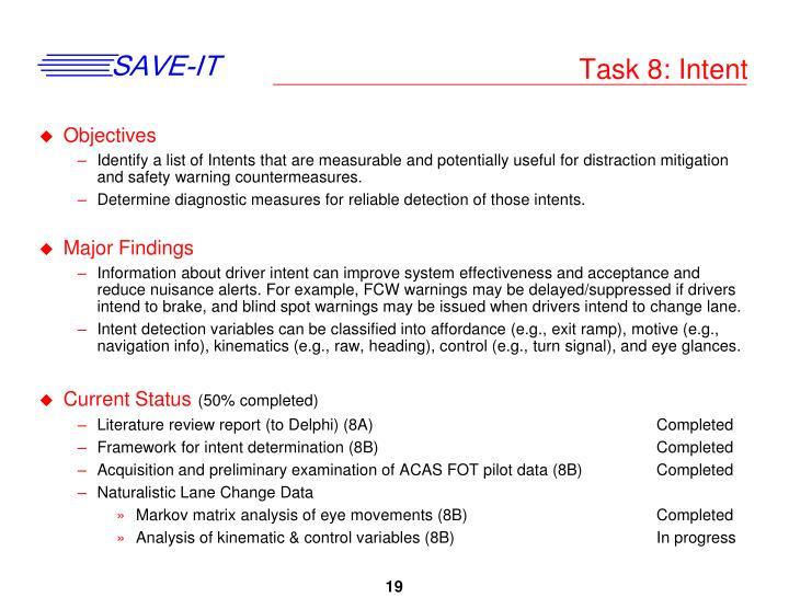 Task 8: Intent