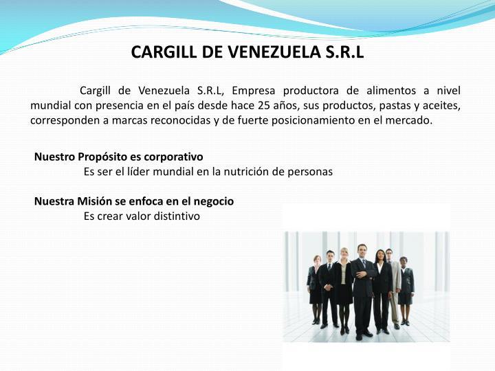 CARGILL DE VENEZUELA S.R.L