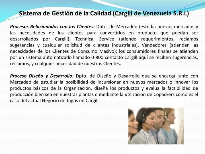 Sistema de Gestión de la Calidad (Cargill de Venezuela S.R.L)