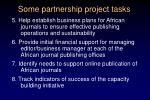some partnership project tasks1