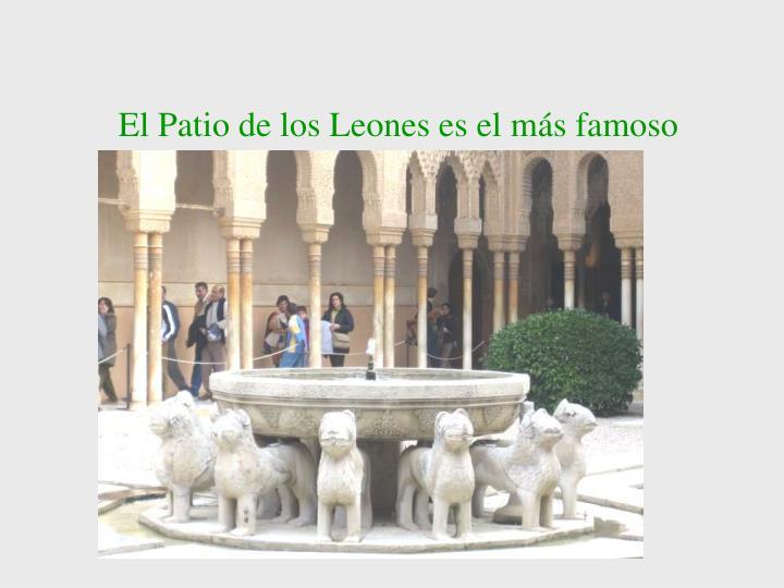 El Patio de los Leones es el más famoso
