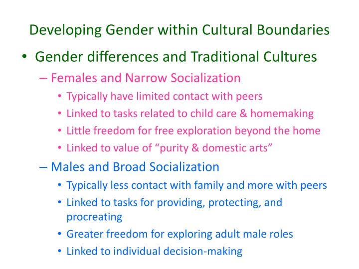 the early development of gender differences Where kohlberg highlighted the relatively late-developing full understanding of gender constancy, the gender schema theorists argue that it is the early cognitive processes underlying children's ability to label themselves as boys or girls that play the key role in gender development (martin et al, 2002.