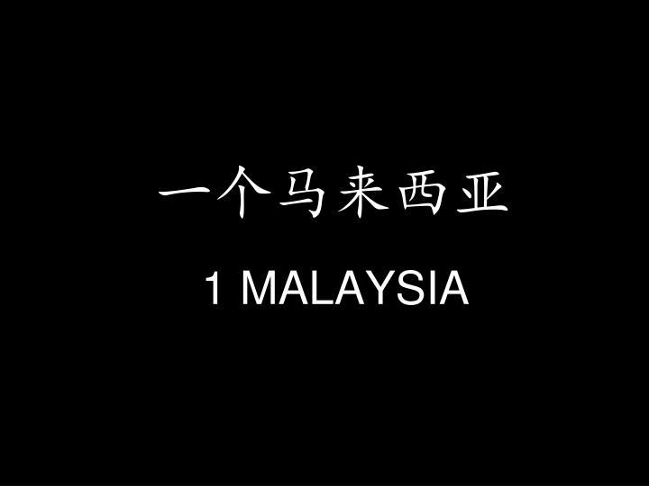 一个马来西亚