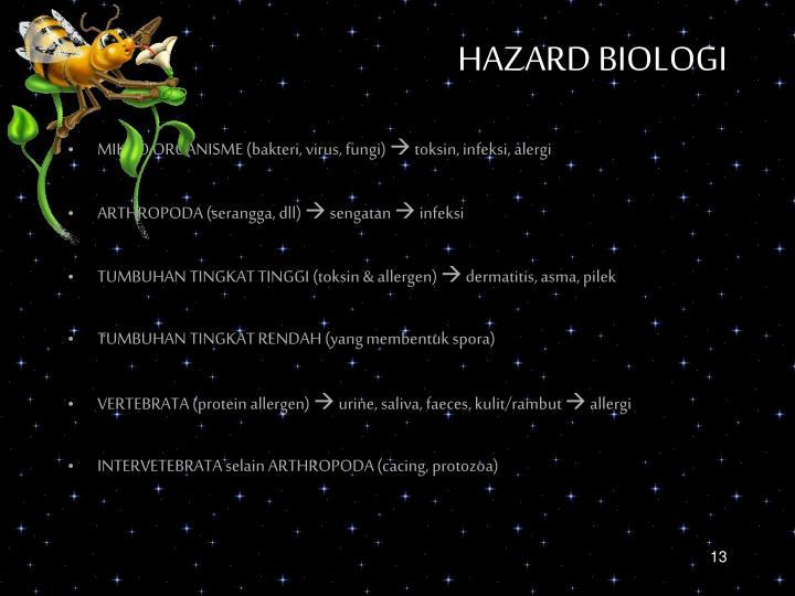 HAZARD BIOLOGI