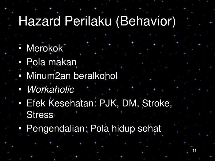 Hazard Perilaku (Behavior)
