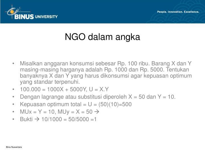 NGO dalam angka