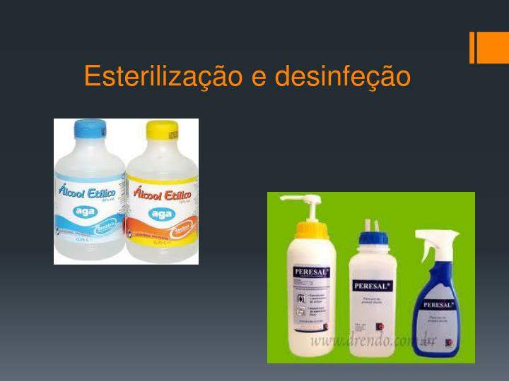 Esterilização e desinfeção