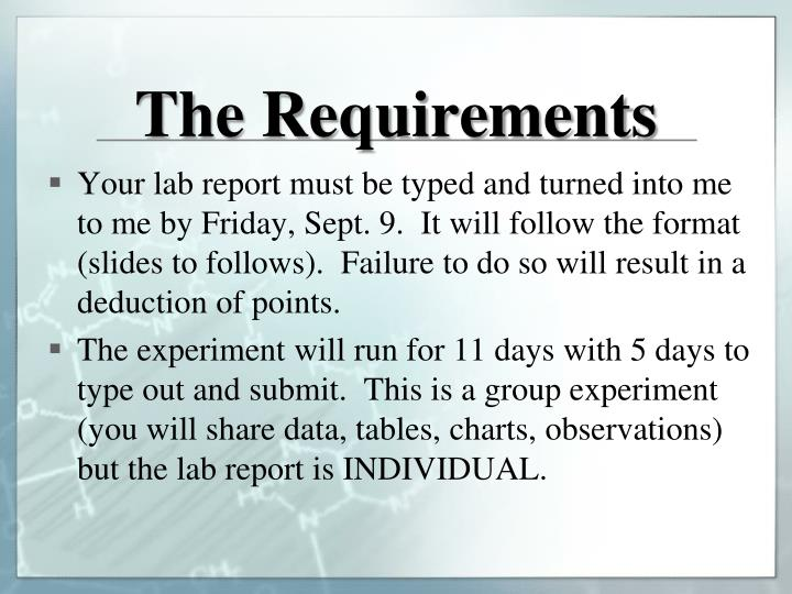 The Requirements