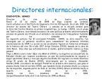 directores internacionales