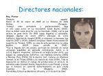 directores nacionales