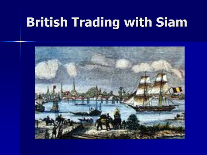 British Trading with Siam