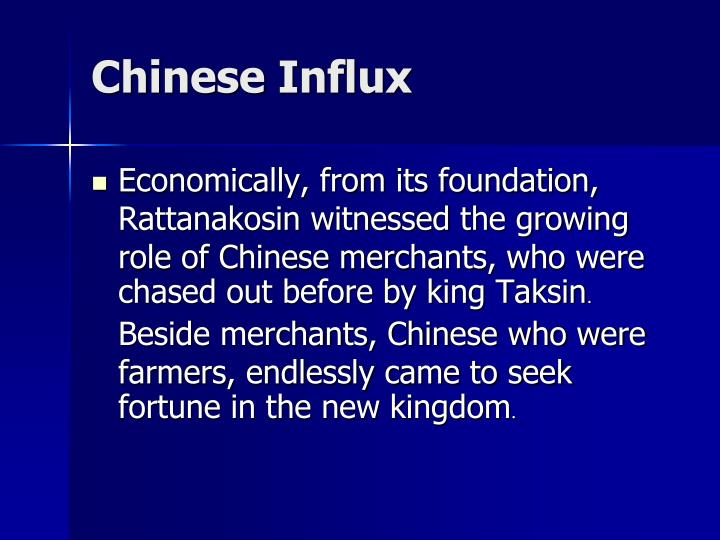 Chinese Influx