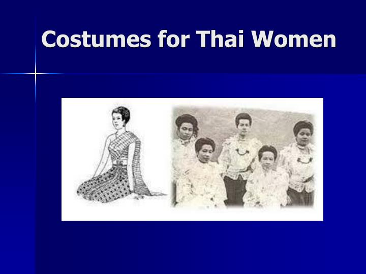 Costumes for Thai Women