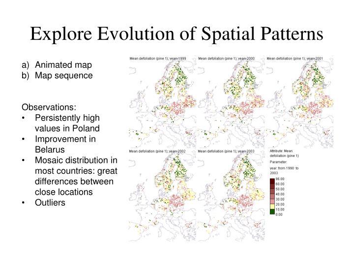 Explore Evolution of Spatial Patterns