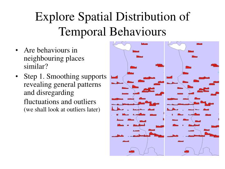 Explore Spatial Distribution of Temporal Behaviours