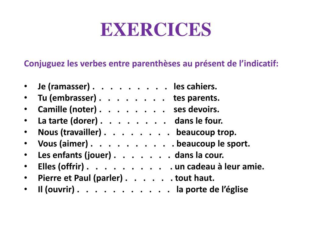 Ppt Le Present De L Indicatif Powerpoint Presentation Free Download Id 4381086