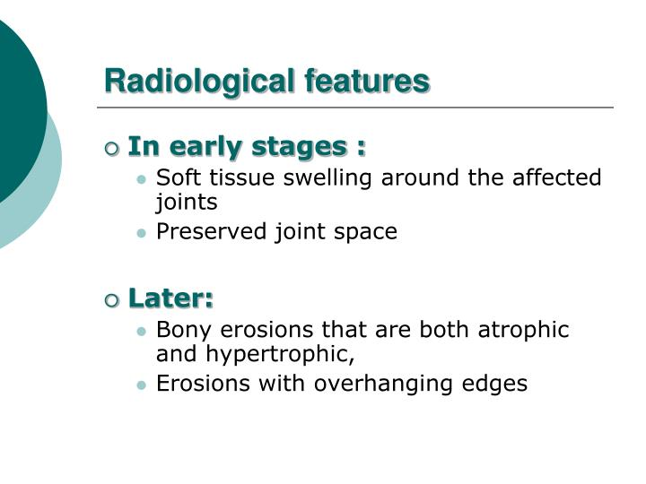 Radiological features
