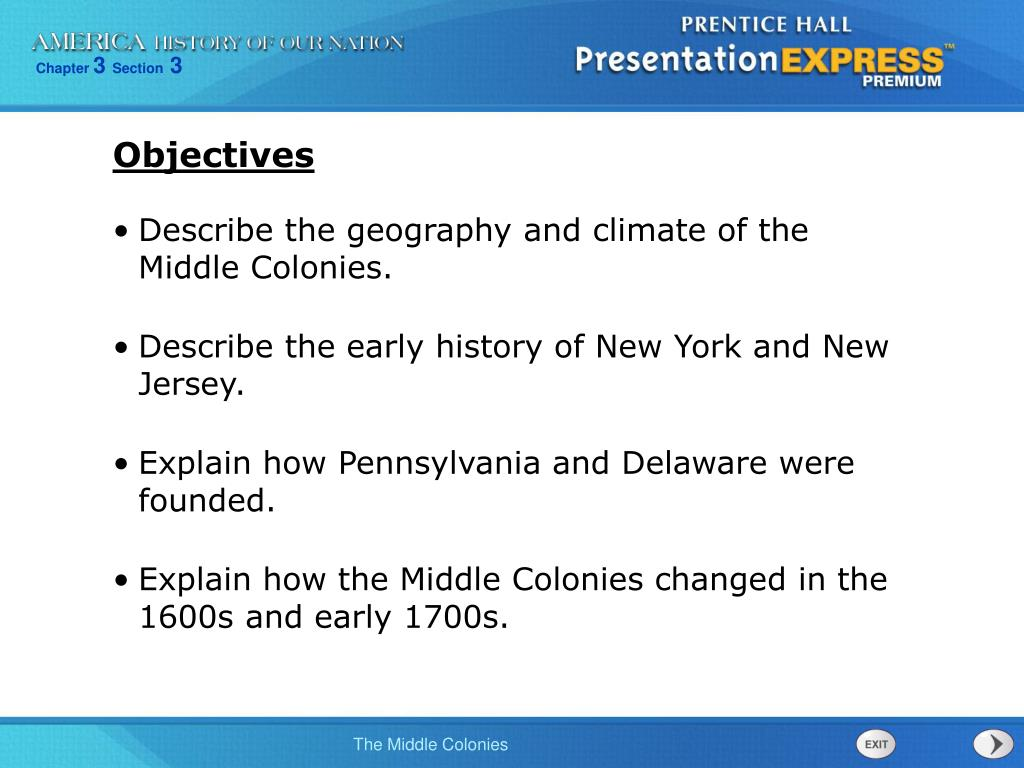 middle colonies climate geography