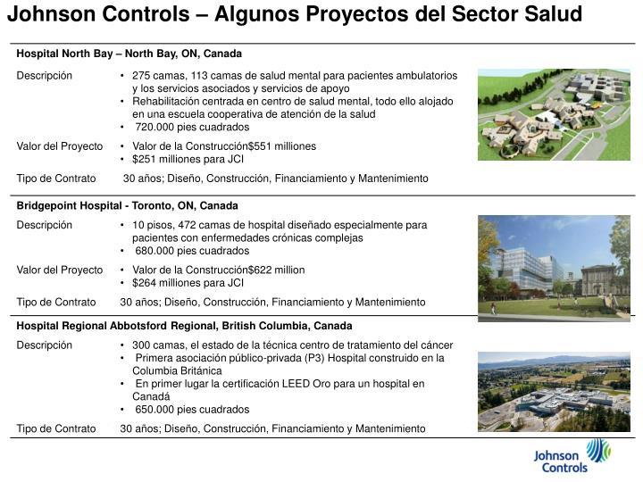 Johnson Controls – Algunos Proyectos del Sector Salud