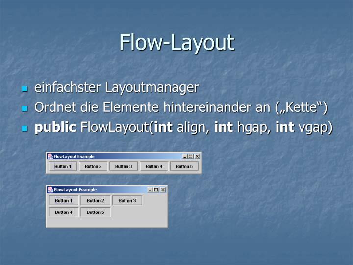 Flow-Layout