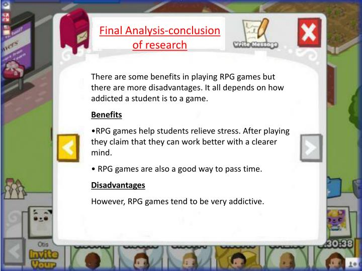 Final Analysis-conclusion of research