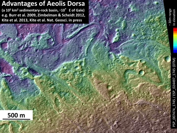 Advantages of Aeolis Dorsa