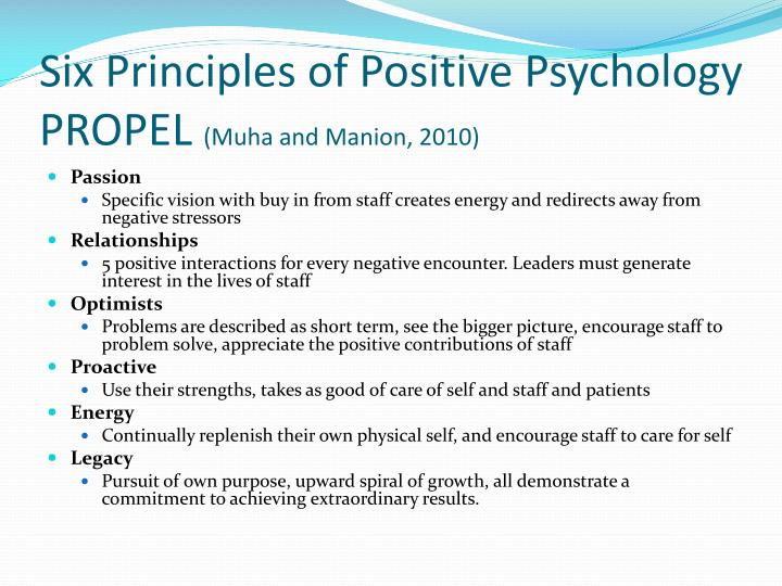 psychology and the six principles of