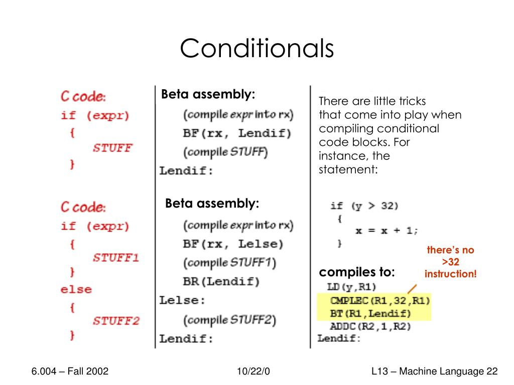 PPT - Machine Language, Assemblers, and Compilers PowerPoint