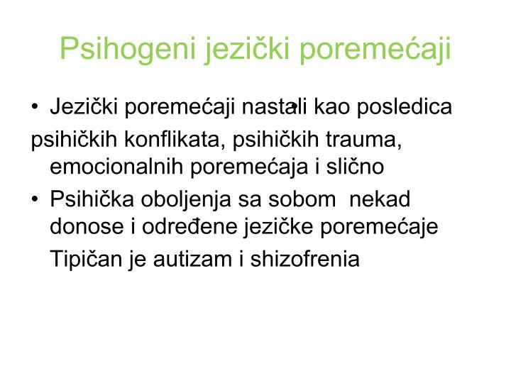 Psihogeni jezički poremećaji